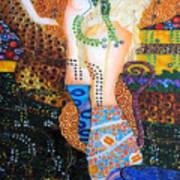 Water Serpents Reply By Gustav Klimt Art Print