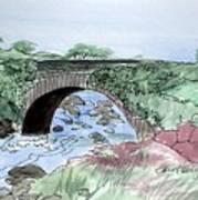 Wishing Bride Bridge, Co.. Kerry Art Print