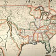 Map: United States, 1820 Art Print