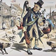 Prohibition  Cartoon, 1889 Art Print