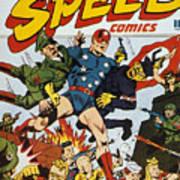 World War II: Comic Book Art Print