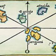 Azores, 1528 Art Print
