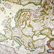 Map Of Europe, 1623 Art Print