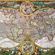 World Map, 1607 Art Print