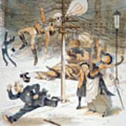 Electricity Cartoon, 1889 Art Print