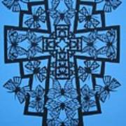 001 Butterfly-cross Art Print