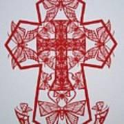 003 Butterfly-cross Art Print
