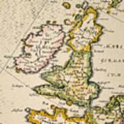 Map Of Great Britain, 1623 Art Print