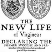 Virginia Tract, 1612 Art Print