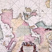 Map: European Coasts, 1715 Art Print