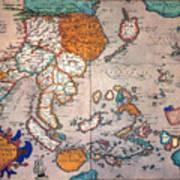 Pacific Ocean/asia, 1595 Art Print