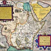 African Map, 1595 Art Print