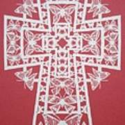 005 Butterfly-cross Art Print