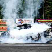 0056 08-04-2013 Lebanon Valley Dragway Night Of Fire Art Print