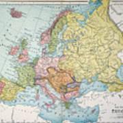 Map: Europe, 1885 Art Print