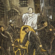 Benito Mussolini Cartoon Art Print