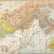 Map: Eastern Canada Art Print