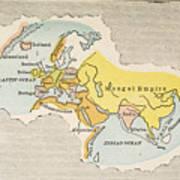 World Map, C1300 Art Print