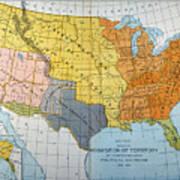 U.s. Map, 1776/1884 Art Print