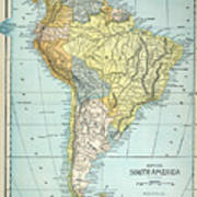 South America: Map, C1890 Art Print