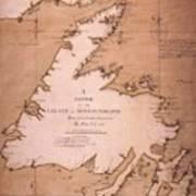 Cook: Newfoundland, 1763 Art Print