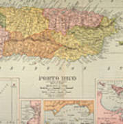 Map: Puerto Rico, 1900 Art Print