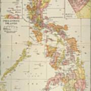 Map: Philippines, 1905 Art Print