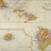 Map: Hawaii, 1905 Art Print