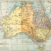 Map: Australia, C1890 Art Print