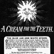 Fonweiss Toothpaste, 1887 Art Print