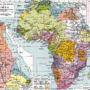 Partitioned Africa, 1914 Art Print