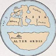 World Map, 1st Century Art Print