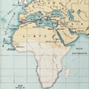 Map: Phoenician Empire Art Print