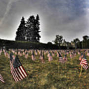 01 Flags For Fallen Soldiers Of Sep 11 Art Print