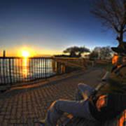 01 Me Sunset 16mar16 Art Print