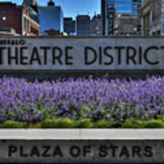 01 Plaza Of Stars Buffalo Theatre District Art Print