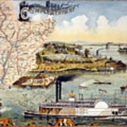 Mississippi Steamboat Art Print