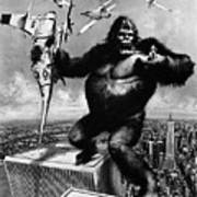 King Kong, 1976 Art Print