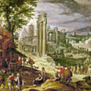 Roman Forum, 16th Century Art Print