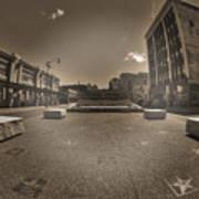 02 Plaza Of Stars Sepia Tone  Art Print