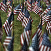 03 Flags For Fallen Soldiers Of Sep 11 Art Print