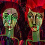 039   Two Pensive Women A Art Print