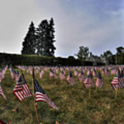 04 Flags For Fallen Soldiers Of Sep 11 Art Print