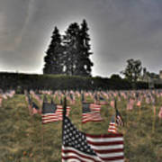 05 Flags For Fallen Soldiers Of Sep 11 Art Print