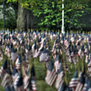 06 Flags For Fallen Soldiers Of Sep 11 Art Print