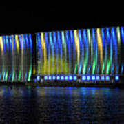 06 Grain Elevators Light Show 2015 Art Print