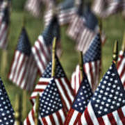07 Flags For Fallen Soldiers Of Sep 11 Art Print