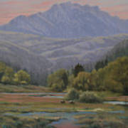 070815-1814   Evening Over Long Scraggy Mt.  Art Print