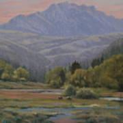 070815-1814   Evening Over Long Scraggy Mt.  Art Print