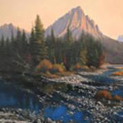 080414-4030 September Evening On Horse Thief Creek Art Print